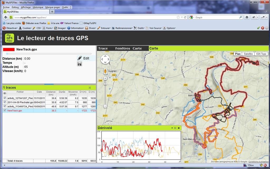 comment modifier trace gpx