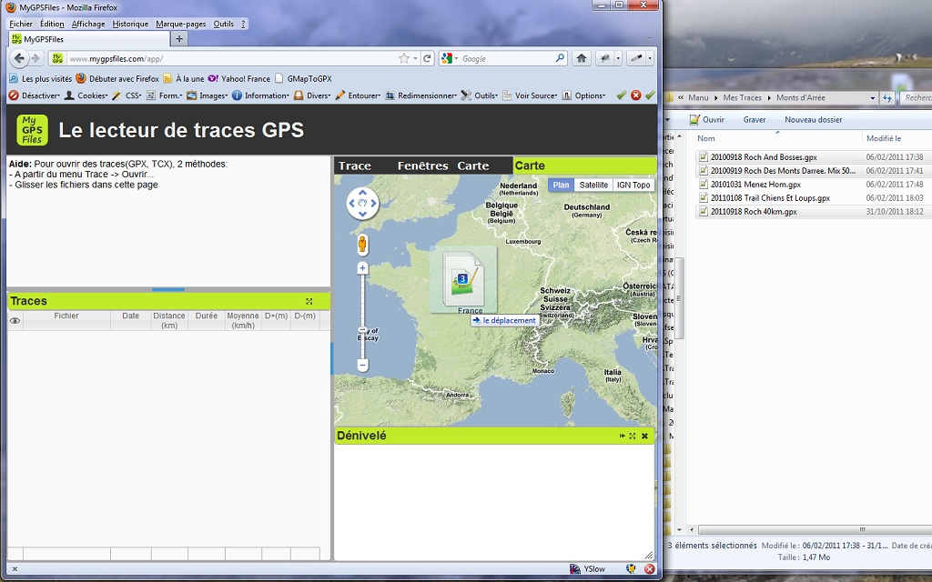 MyGPSFiles: The GPS tracks reader