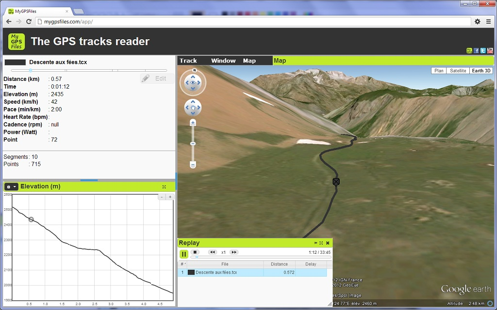 Gpx track editor